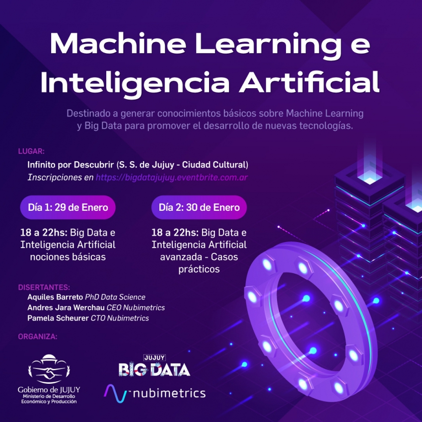 ANUNCIAN JORNADA SOBRE MACHINE LEARNING Y BIG DATA EN JUJUY